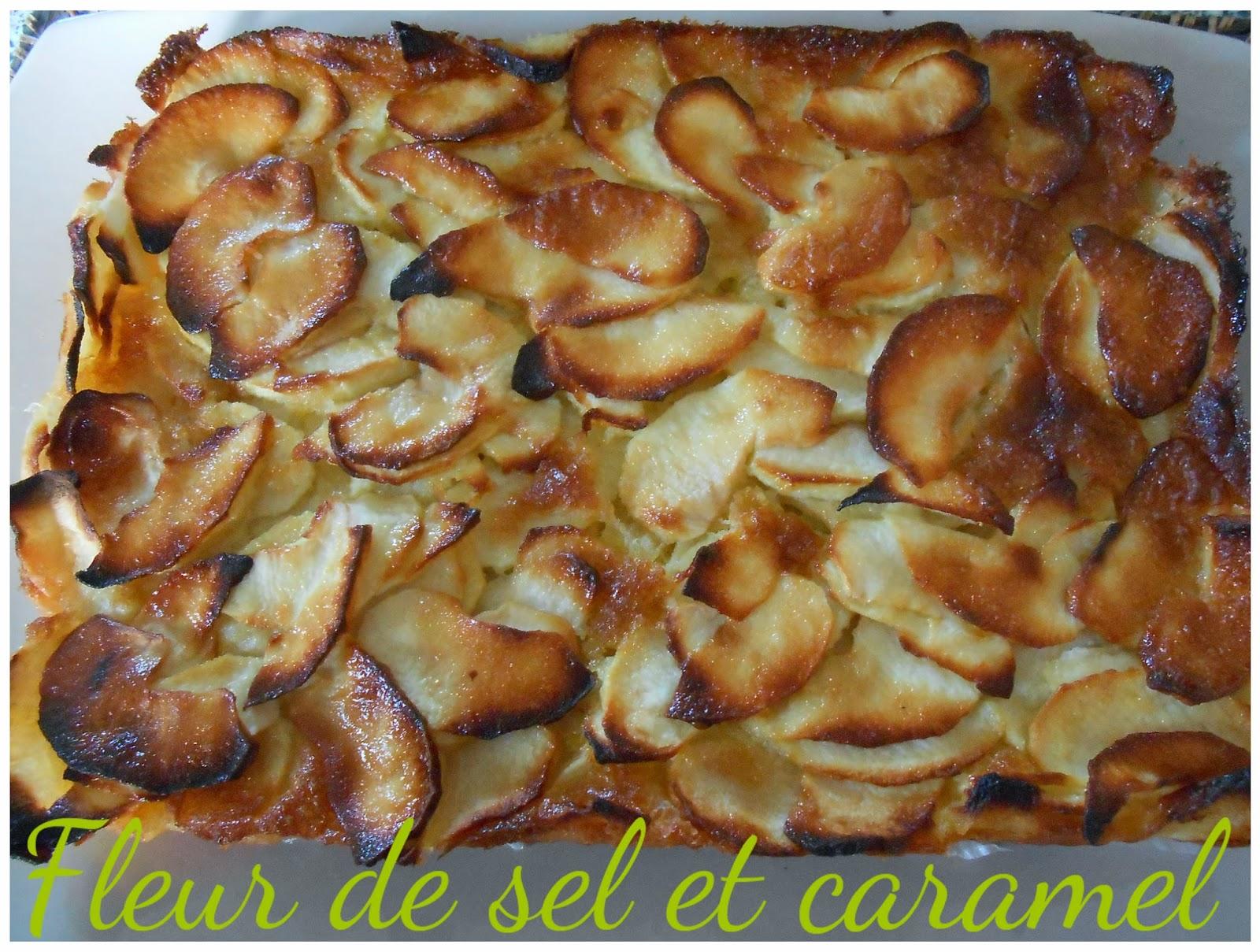 Fondant aux pommes et sauce au carambar