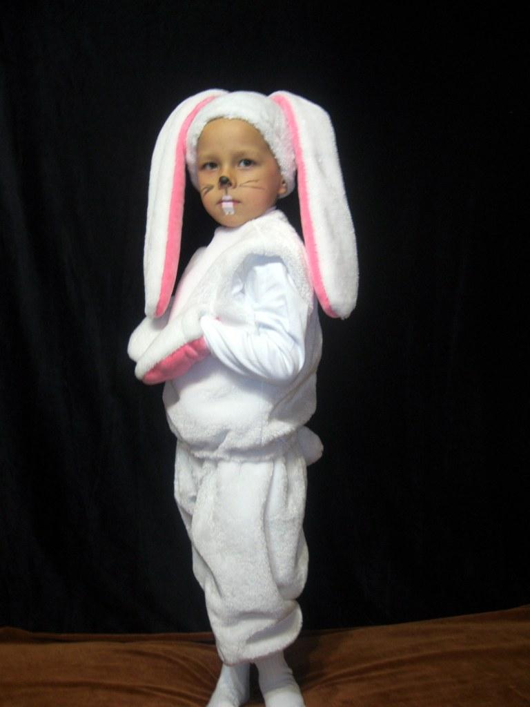 Костюм мальчика зайца своими руками