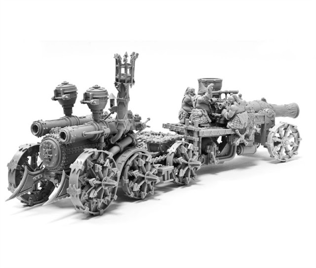 Chaos Dwarf Magma Cannon and Iron Demon  - Warhammer Forgeworld photo