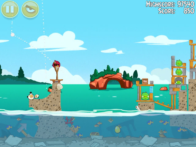 Angry Birds Seasons: Piglantis - Golden Eggs - Fase 2-4