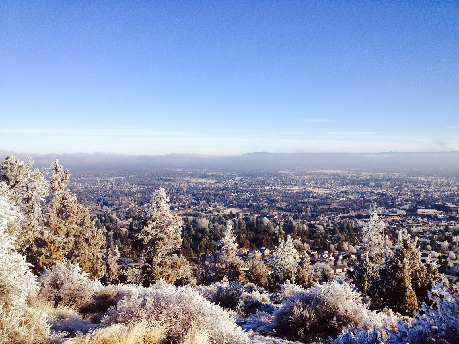 The scene from the top of Pilot Butte in Bend