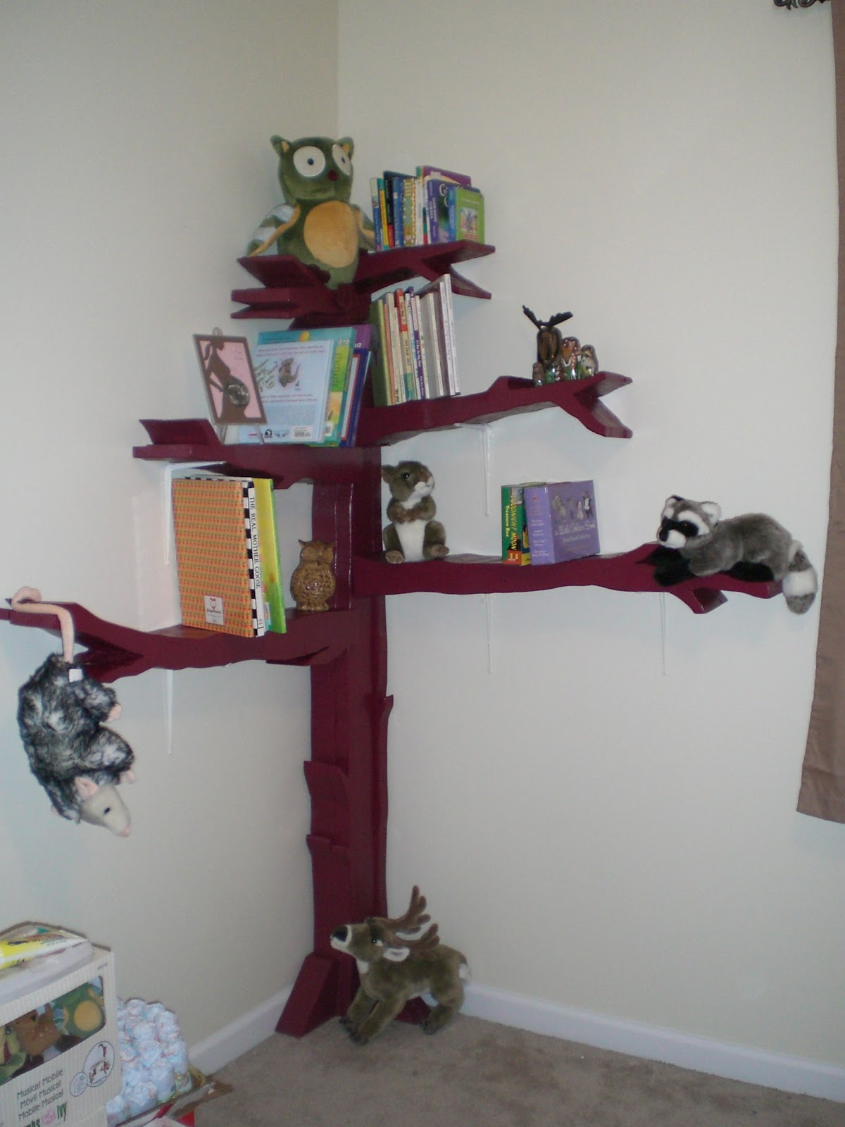 a squared how to make a tree bookshelf