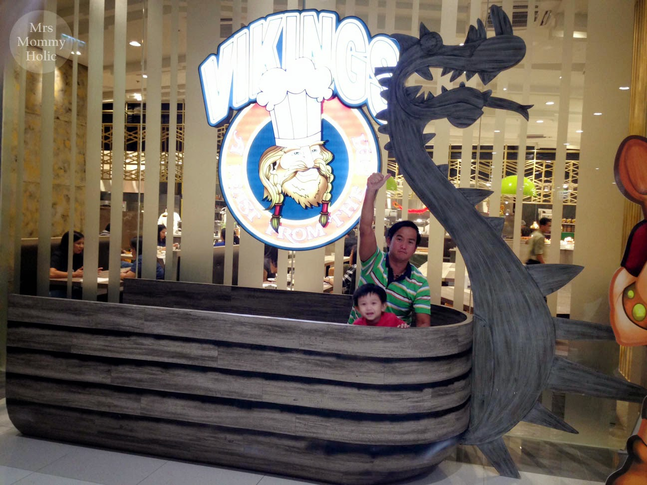 Mrsmommyholic vikings buffet at sm bf anyway i also love how they recycled the viking ship from the how to train your dragon christmas display its definitely a great place for a photo op with ccuart Images