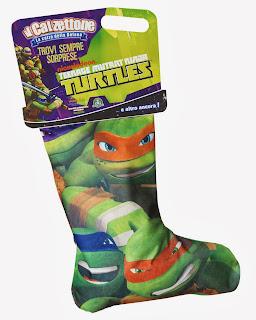 Calzettone Turtles Tartarughe Ninja befana 2014 giochi preziosi giocattoli sorpresa
