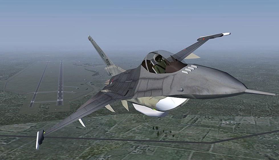صورة من لعبة الطائرات الواقعية FlightGear