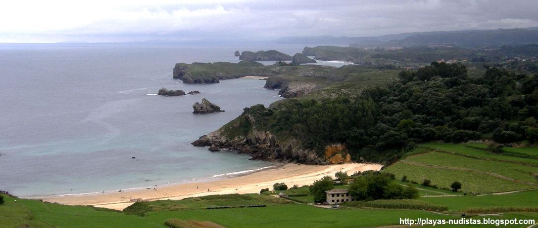 Playa de Niembru y costa de Llanes (Asturias, España)