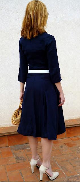 foto parte detras entero vestido Isabel de Pedro