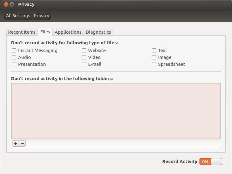 Ubuntu Privacy Tool