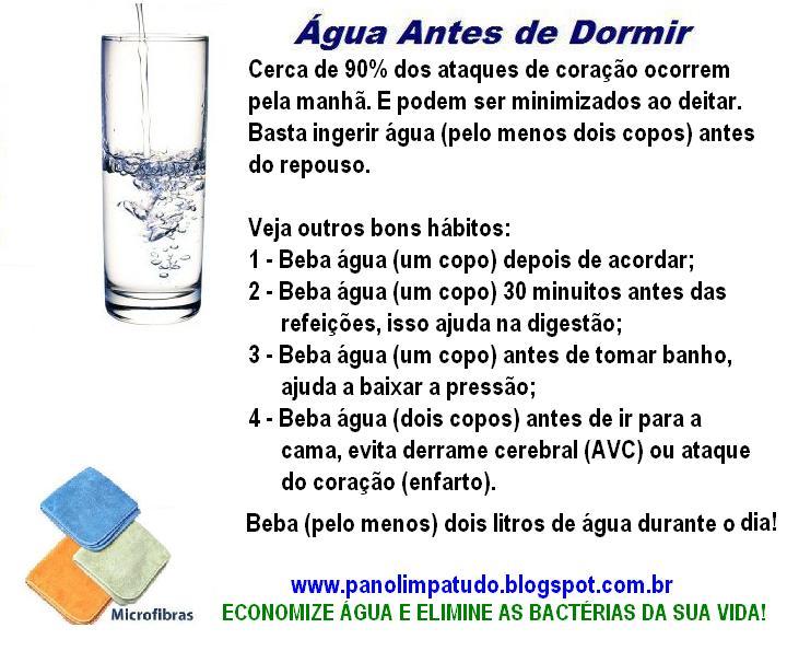 Beba Água e Previna-se de: