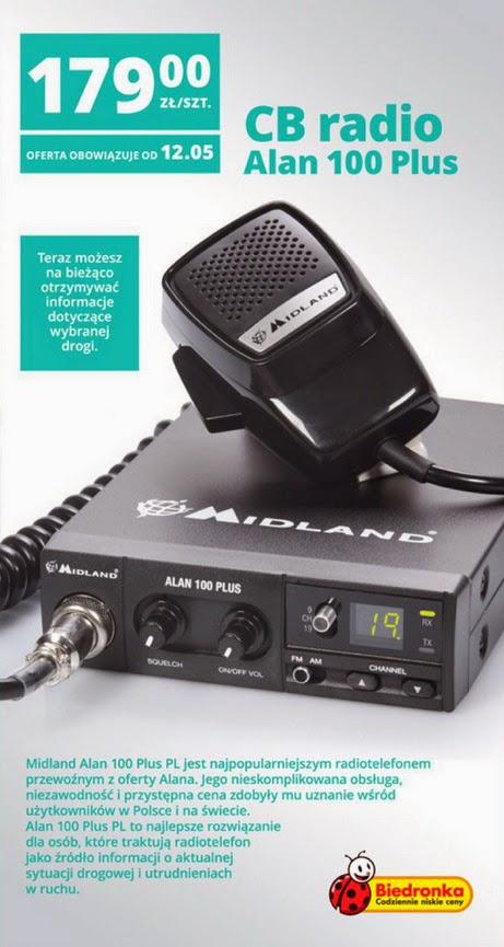 CB Radio Midland Alan 100 Plus z Biedronki ulotka