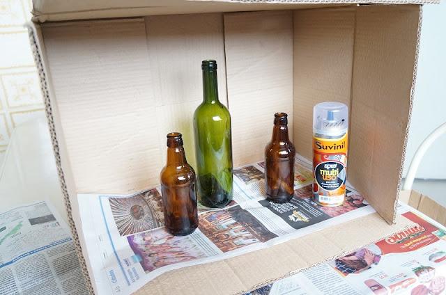 materiais necessários para pintar garrafinhas
