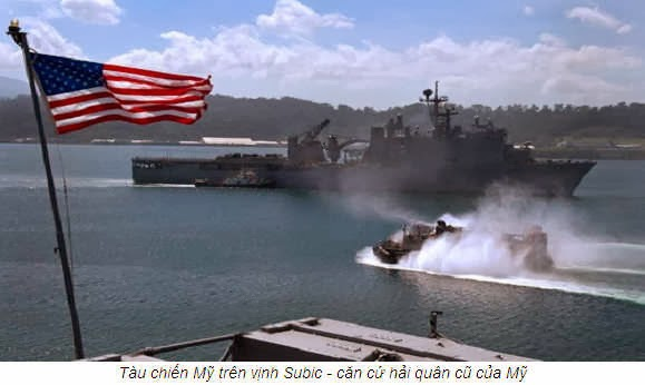 Tàu chiến Mỹ trên Vịnh Subic- Căn cứ hải quân cũ của Mỹ