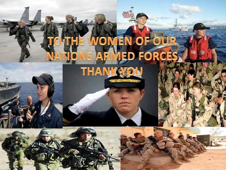 to the women of our nations armed forces thank you