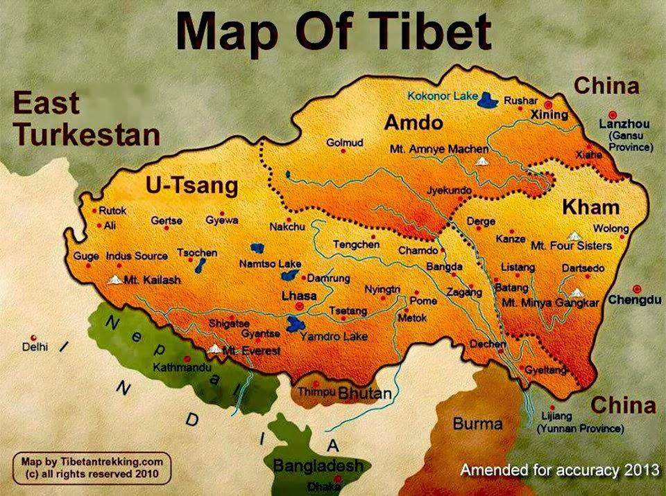china map tibet
