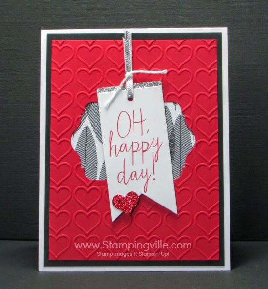 Great love card for birthday, anniversary, or Valentine's. #cardmaking #papercrafts #Stampinup