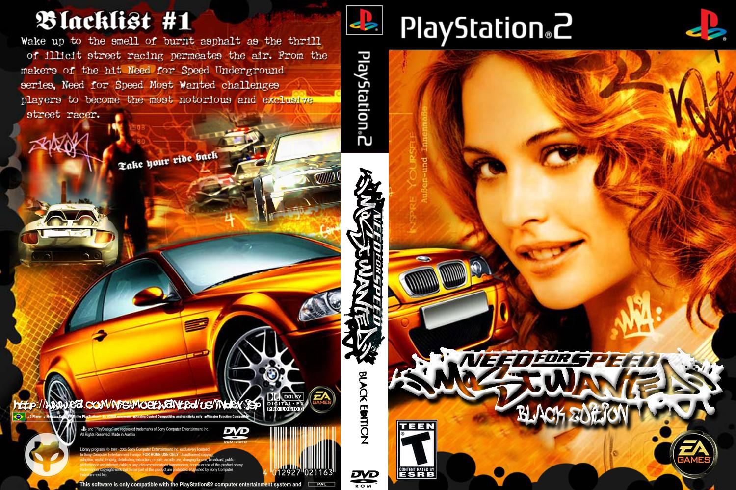 Need For Speed Most Wanted Black Edition - Playstation 2 ... Ps2 Need For Speed