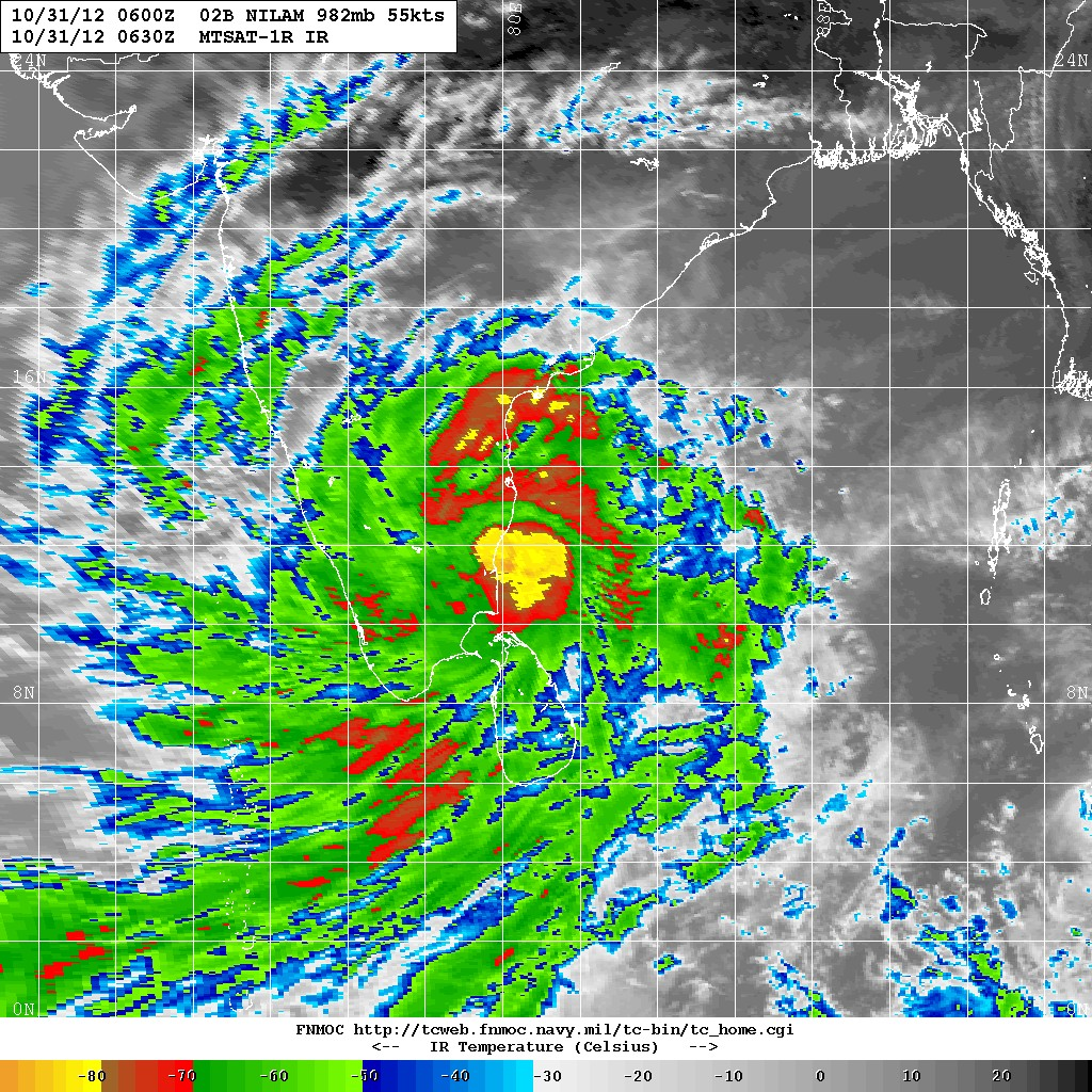 Latest Satellite Images Of Cyclone Nilam Show It Has