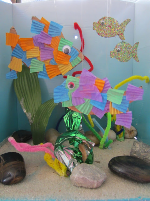 fish craft, activities for kids, under the sea craft
