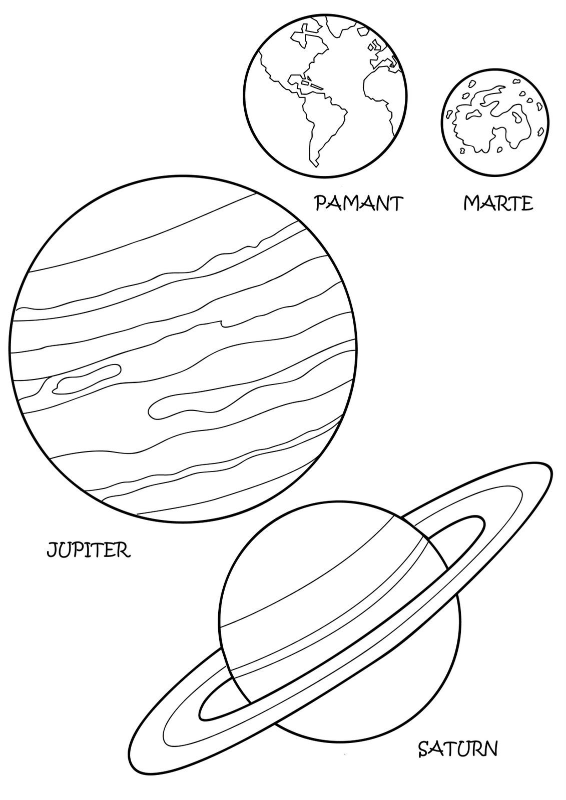 Sistemul Solar Plansa De Colorat Resurse Pentru Copii