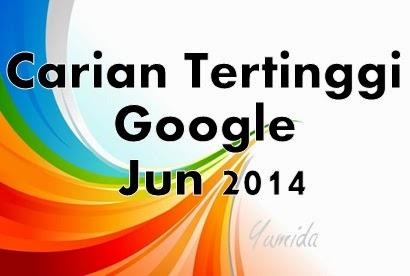 Carian Tinggi Google Jun 2014, Carian Terbanyak Google Jun 2014, Carian Popular Google Jun 2014,