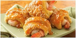 Shrimp Sweet Sour Covered Bread