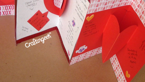 Craftingeek*: Como hacer Tarjetas Pop-up: San Valentin