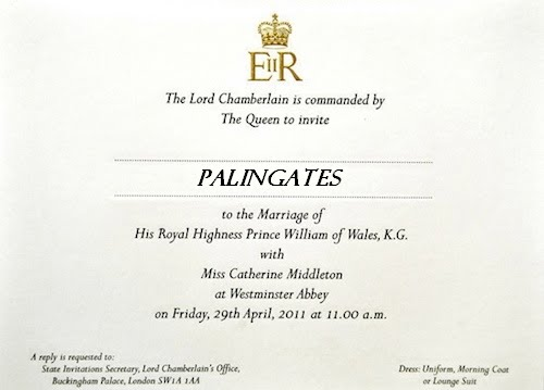 prince william kate middleton wedding invitation. Prince William Kate Middleton