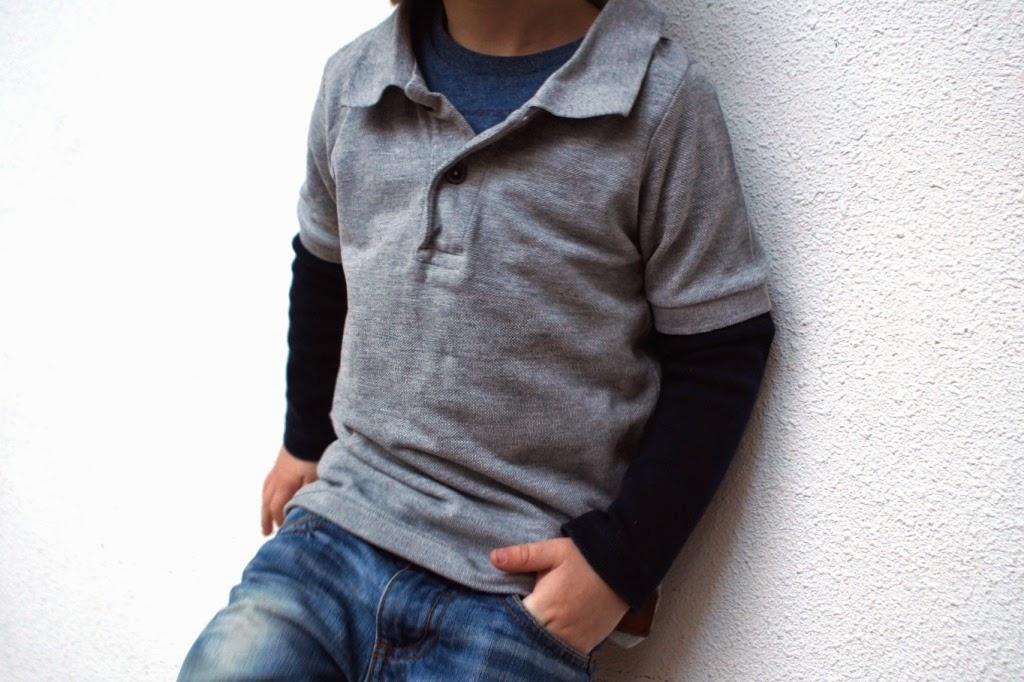 recycled polo shirt - huisje boompje boefjes