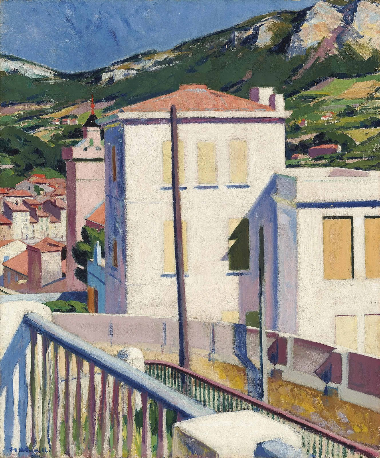 Francis Cadell The white villa cassis Christies