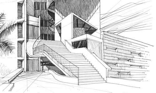 Arquii blog dibujo arquitectonico for Arquitectura de interiores universidades
