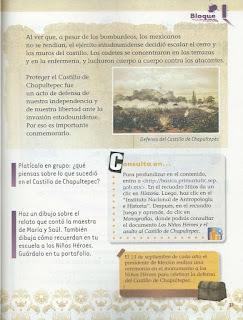 Apoyo Primaria Exploración de la Naturaleza y la Sociedad 2do grado Bloque 1 lección 9 Cómo celebramos: La defensa del Castillo de Chapultepec