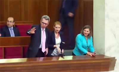 Посол в Украине Пайетт и представитель Госдепартамента США Нуланд в Верховной Раде