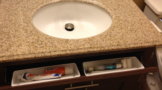 Tip Out Tray Adds Storage And Keeps Counter Top Clear!