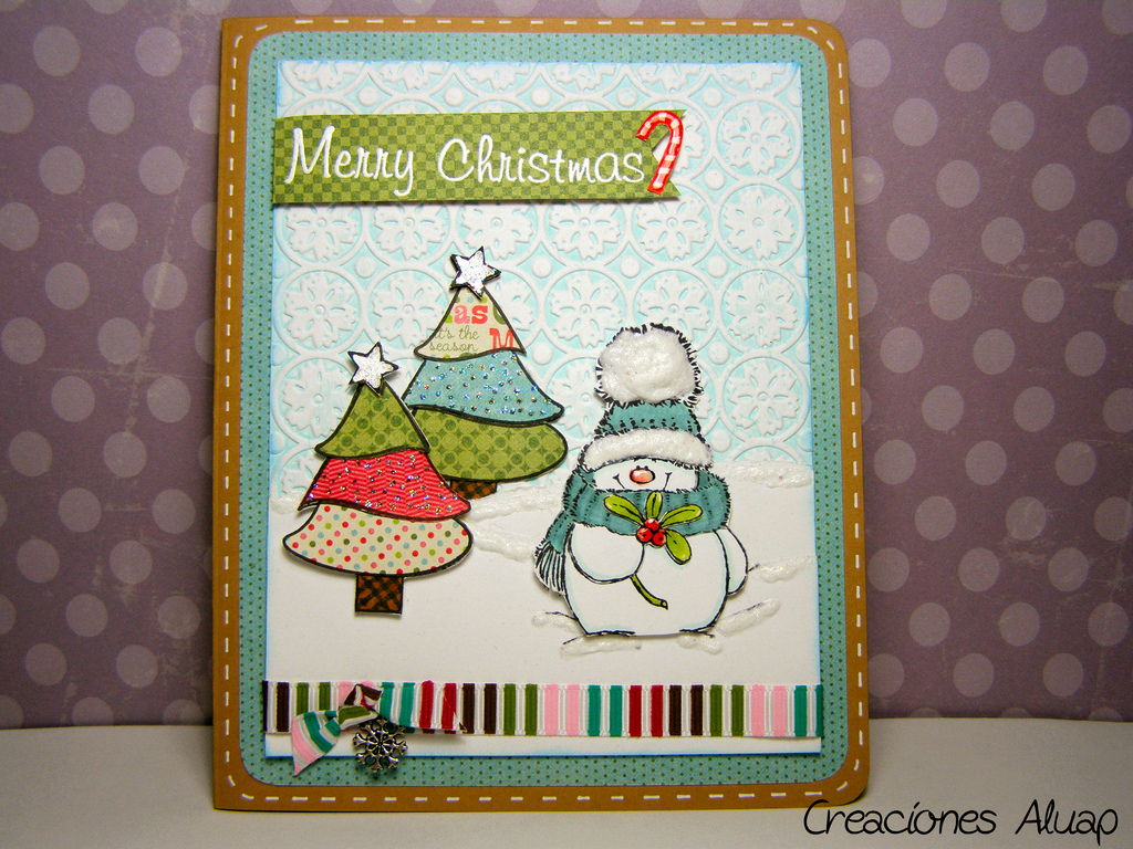 Ideas manicuría Navidad nail art, tarjeta navidad, nieve, muñeco de nieve