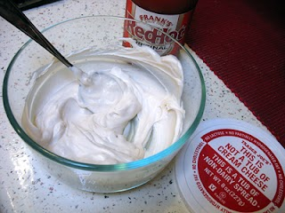 Cream cheese alternative.