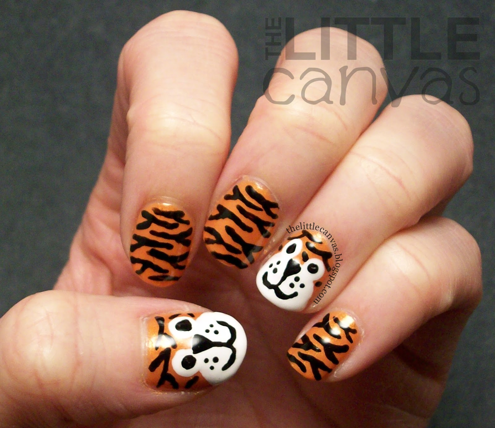 Tiger Nail Art Re-Visited - The Little Canvas