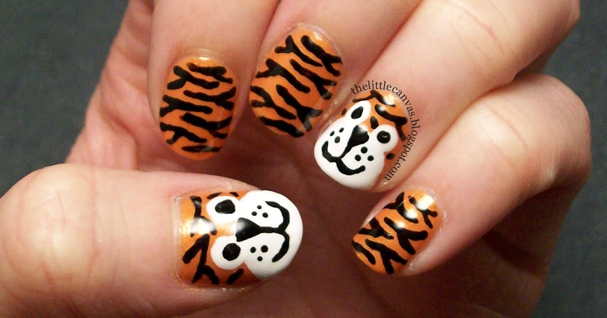 The Little Canvas: Tiger Nail Art Re-Visited
