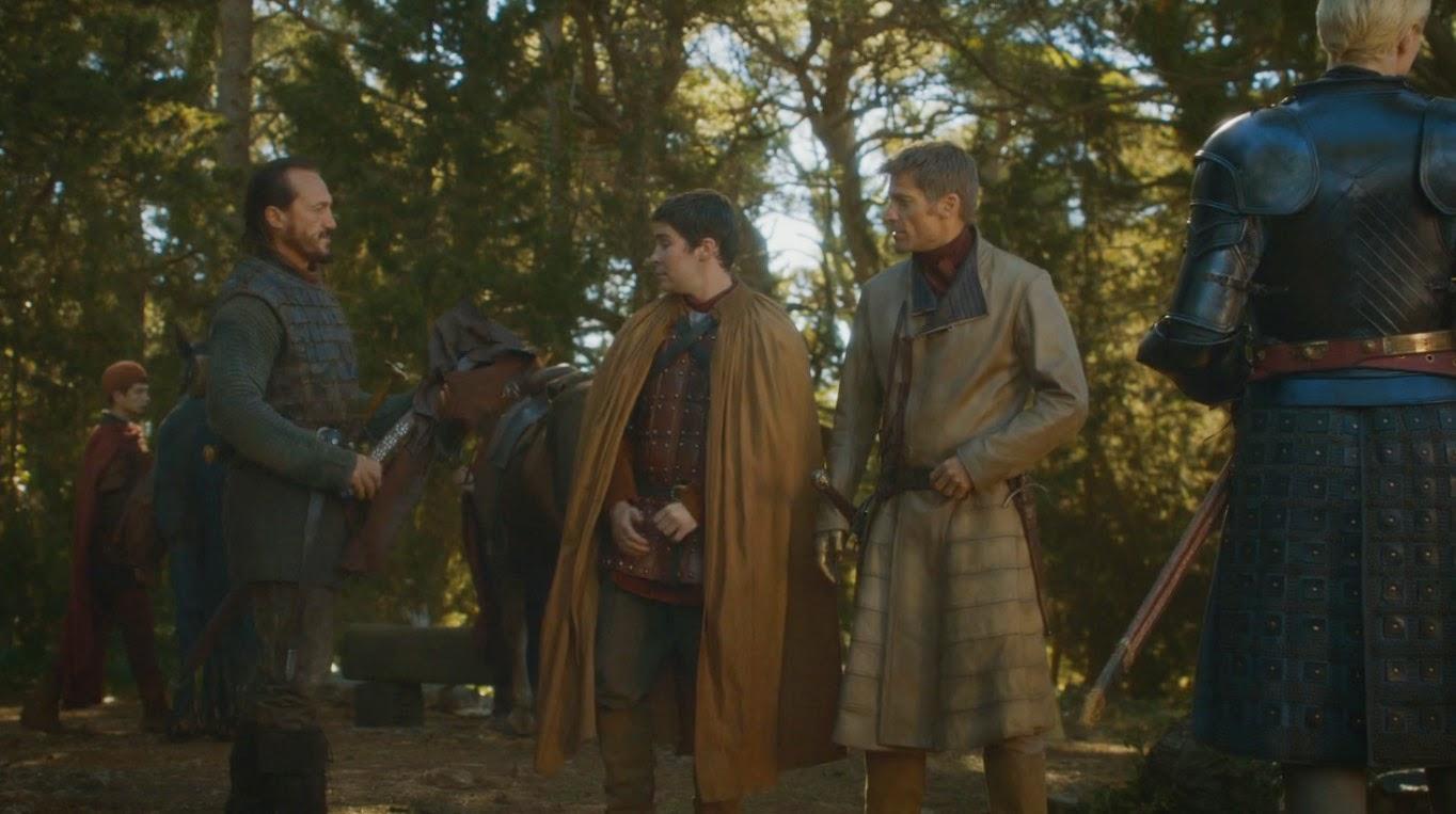 """Captura de Podrick y Brienne de Tar en  """"Juego de Tronos 4x04"""""""