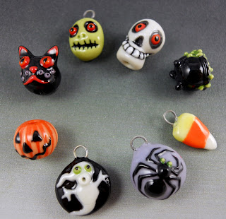 Joan Miller Halloween porcelain beads
