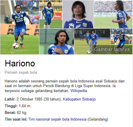 Hariono Profil Biografi Pemain Sepak Bola Dunia