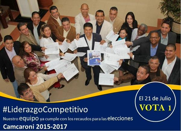 21 de julio elecciones de Junta Directiva de CAMCARONI
