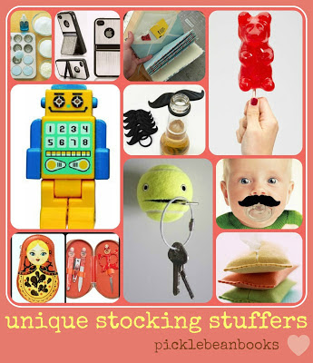 Picklebeanbooks unique stocking stuffers mini gifts Unique stocking stuffers adults
