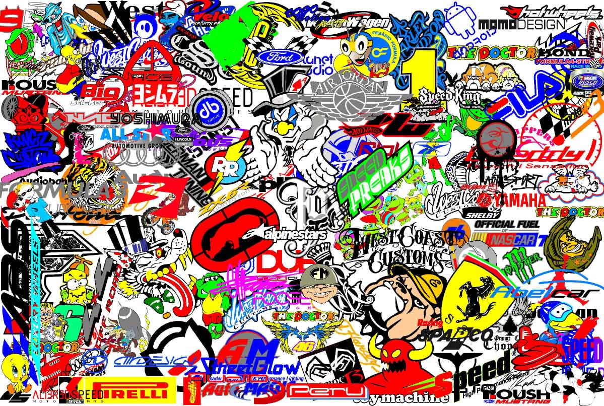 sticker bomb wallpaper cartoon - photo #33