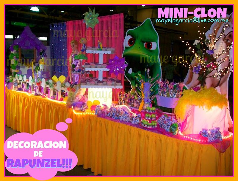 Decoracion Rapunzel Para Fiestas ~ DECORACION DE MESA PRINCIPAL DEL TEMA ENREDADOS  si deseas ver mas