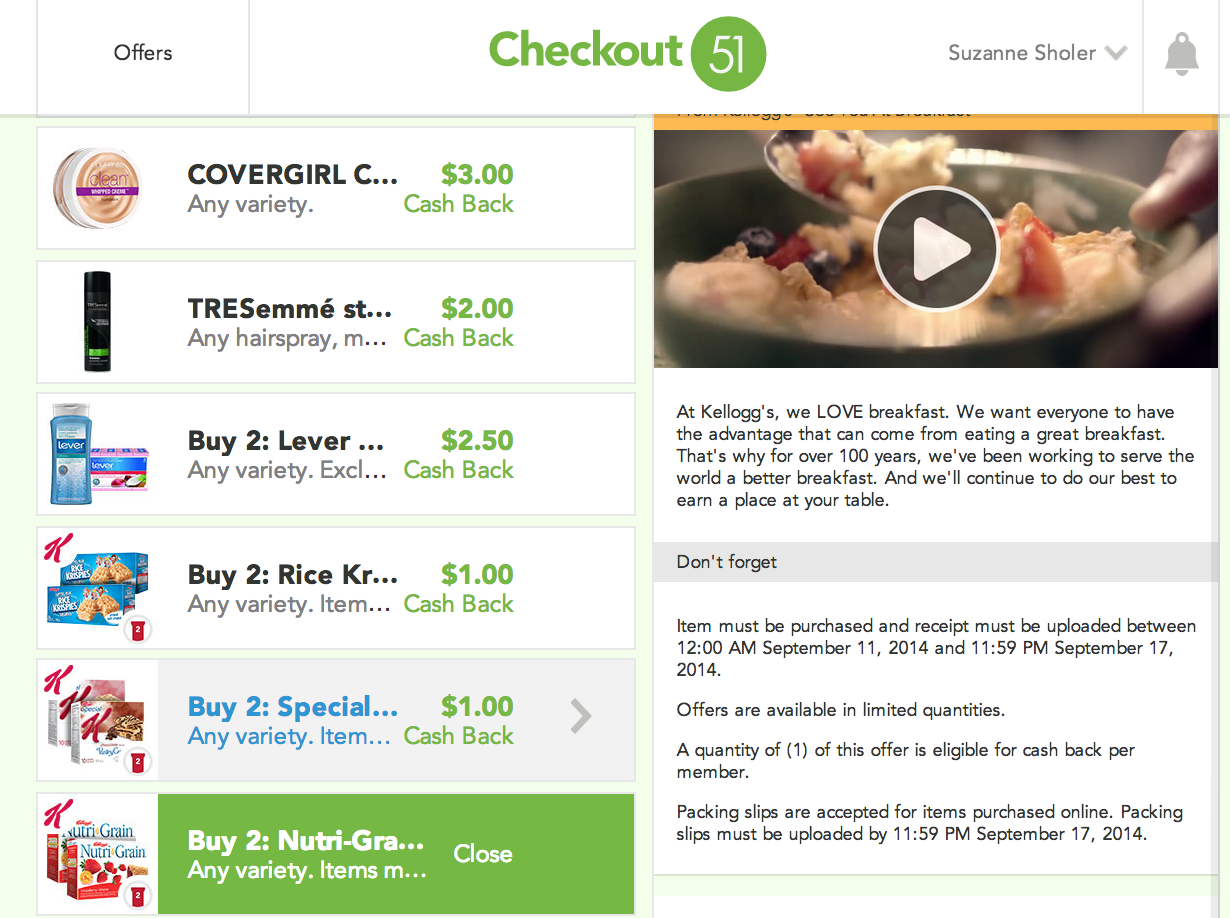 Checkout51 Rebates offer free grocery savings catch the hidden rebates on their site too!