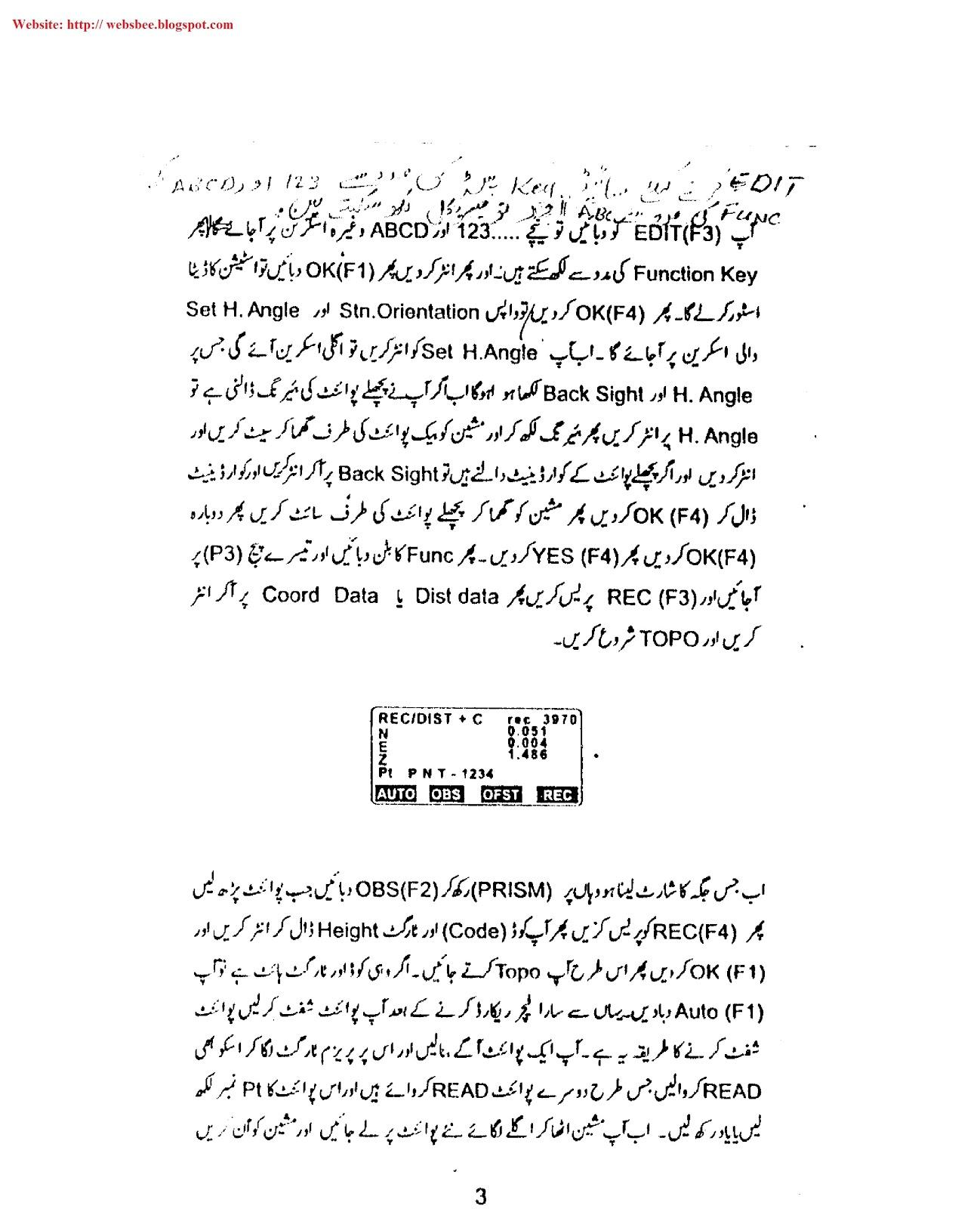Sokkia Total Station Manual Training In Urdu Pdf