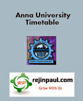 Anna University 1st Semester Exam Timetable 2014