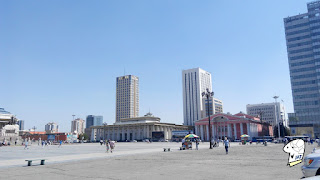 View of the East side Chinggis Khaan Square