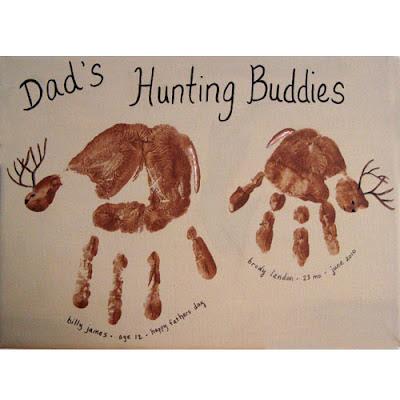 Handprint Dad's Hunting Buddies