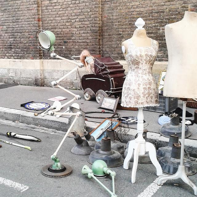 Lampe Jieldé / Mannequins /Brocante Amiens / Octobre 2015 / Photos Atelier rue verte /
